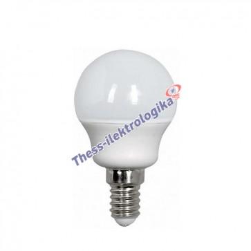 Λαμπτήρας LED σφαιρικός 6W E14 6500K 240V
