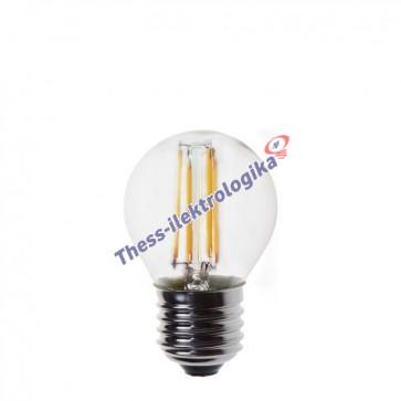 Λαμπτήρας LED Διακοσμητικός Filament σφαιρικός 4W E27 3000K 240V