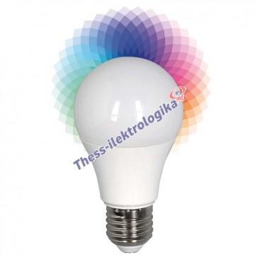 Λαμπτήρας LED SMD smart R+G+B 6W Ε27 240V